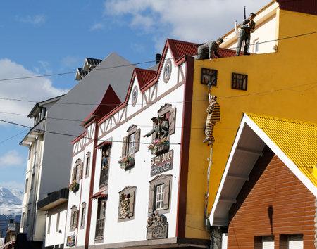 best location: USHUAIA, ARGENTINA - APRIL 2, 2015: Galeria Tematica museum and souvenir shop  in Ushuaia, Argentina
