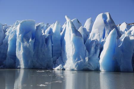 灰色の氷河、トーレス ・ デル ・ パイネ国立公園、パタゴニア、チリ