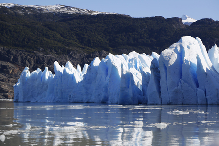 torres: Gray glacier, Torres del Paine National Park, Patagonia, Chile
