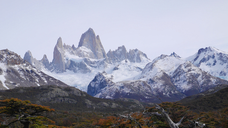 chalten: Mount Fitz Roy in Patagonia.  It is is a mountain located near El Chalten village, in the Southern Patagonian Ice Field in Patagonia, on the border between Argentina and Chile