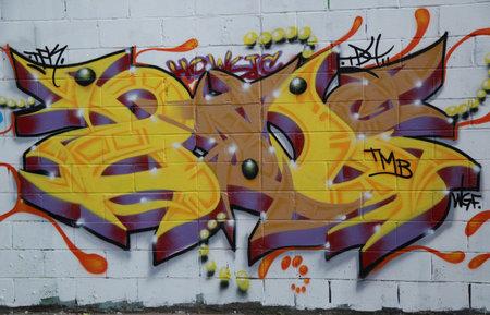 NEW YORK - AUGUST 29, 2015: Graffiti art at East New York in Brooklyn. Redakční
