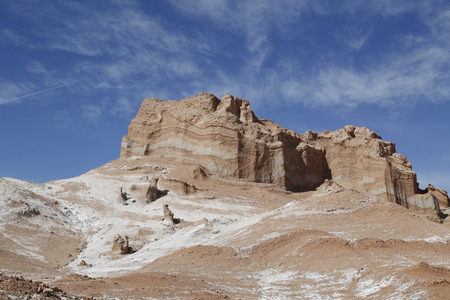 moon  desert: Rock formations of the Moon Valley, Atacama Desert, Chile, South America
