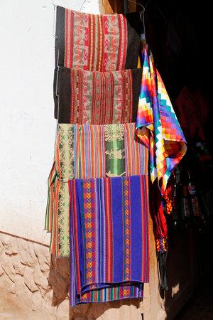 best location: SAN PEDRO DE ATACAMA, CHILE - APRIL 10, 2015:  Local souvenirs on display in San Pedro de Atacama, Chile. Editorial