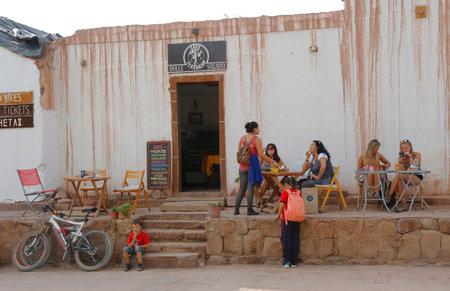 san pedro: SAN PEDRO DE ATACAMA, CHILE - APRIL 10, 2015: On the street at San Pedro de Atacama, Chile