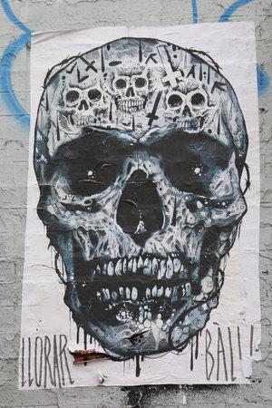 stencil art: NEW YORK - MAY 12, 2015: Stencil art at East Williamsburg in Brooklyn.