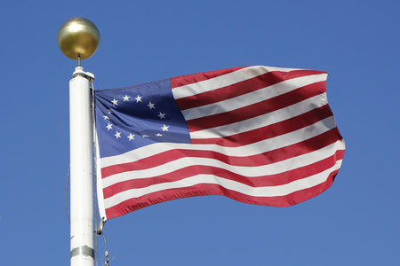 variant: Vintage 13-star American flag so-called Betsy Ross variant Stock Photo