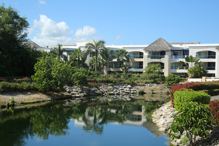 PUNTA CANA, DOMINICAN REPUBLIC - JANUARY 3, 2016: Hard Rock Hotel Casino Punta Cana All Inclusive located at the Bavaro beach in Punta Cana Editorial
