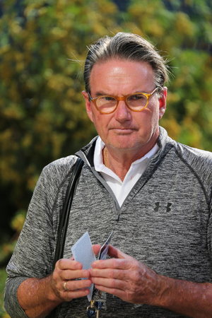 grand slam: NEW YORK - AUGUST 29, 2015: Eight times Grand Slam Champion Jimmy Connors of United States at Billie Jean King National Tennis Center during US Open 2015 in New York Editorial