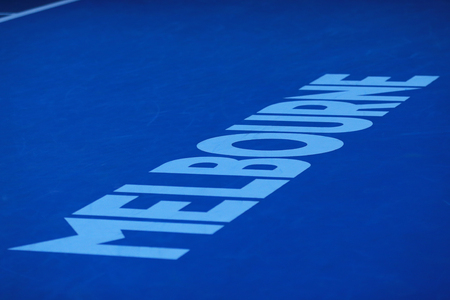 rod sign: MELBOURNE, AUSTRALIA - JANUARY 30, 2016: Iconic Melbourne sign at Rod Laver Arena at Australian tennis center in Melbourne Park