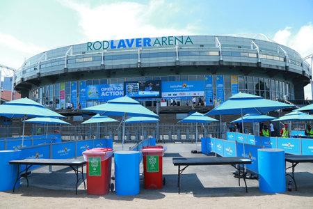 MELBOURNE, AUSTRALIA - JANUARY 29, 2016: Rod Laver arena at Australian tennis center in Melbourne Park. It is the main venue for the Australian Open tennis championship since 1988