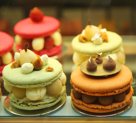 assortment: French pastries assortment Stock Photo