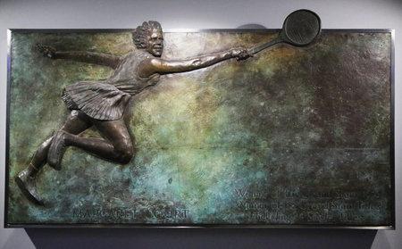 grand slam: MELBOURNE, AUSTRALIA - JANUARY 23, 2016: Margaret Court memorial plaque at Australian tennis center in Melbourne Park. Margaret Court won 64 Grand Slam titles . Editorial