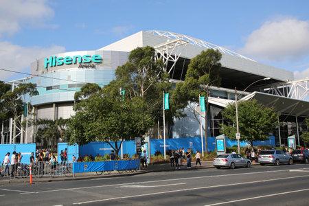 atp: MELBOURNE, AUSTRALIA - JANUARY 23, 2016: Hisense Arena at Australian National tennis center in Melbourne Park.