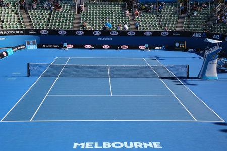 center court: MELBOURNE, AUSTRALIA - JANUARY 25, 2016: Show court 2 during Australian Open 2016  at Australian tennis center in Melbourne Park.