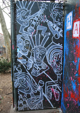 lower east side: NEW YORK - MARCH 10, 2016: Mural art at Lower East Side in Manhattan Editorial