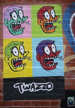 lower east side: NEW YORK - MARCH 10, 2016: Stencil art at Lower East Side in Manhattan