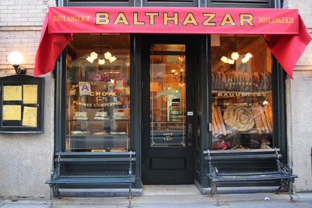 NEW YORK - APRIL 24, 2016: Famous Balthazar french restaurant in Soho in New York City