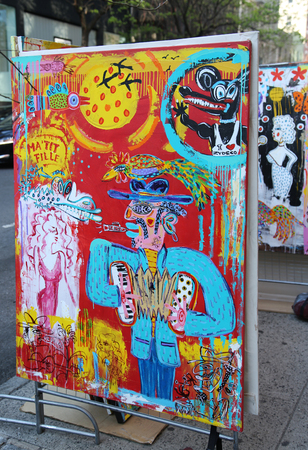 NEW YORK - APRIL 24, 2016: Street art in Lower East Side in Manhattan. Reklamní fotografie - 55992234