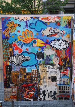 lower east side: NEW YORK - APRIL 24, 2016: Street art in Lower East Side in Manhattan. Editorial