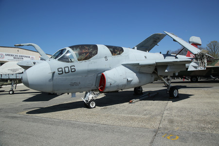 prowler: FARMINGDALE, NEW YORK - APRIL 14, 2016: Grumman EA-6B Prowler on display at the American Airpower Museum in Farmingdale,  New York.
