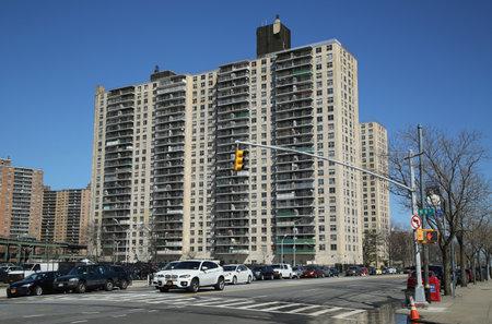 gentrification: BROOKLYN, NEW YORK - APRIL 10, 2016:  Modern condominium at Coney Island in Brooklyn, New York Editorial