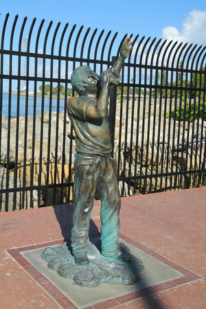 continental united states: KEY WEST, FLORIDA - JUNE 1, 2016: Statue of Bishop Albert Kee near southernmost point in Continental United States in Key West, Florida