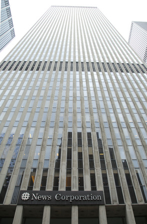 mass media: NEW YORK - JUNE 16, 2016: News Corporation headquarters building in New York City. News Corporation is an American diversified multinational mass media corporation Editorial