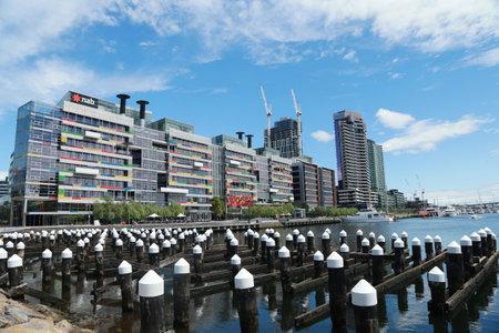 docklands: MELBOURNE, AUSTRALIA - JANUARY 31, 2016: Melbourne City Marina at Docklands in Waterfront City, Melbourne, Australia