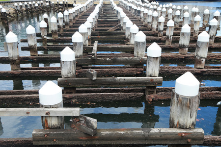 docklands: Old pier at the Melbourne City Marina at Docklands in Waterfront City, Melbourne, Australia