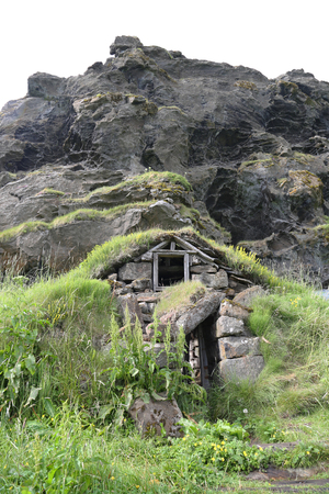 Traditional Icelandic Turf Houses in Southern Iceland