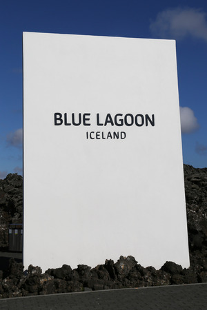 therapy geothermal: ICELAND -JULY 5, 2016: Entrance to famous Blue Lagoon Geothermal Spa in Iceland.  The Blue Lagoon geothermal spa is one of the most visited attractions in Iceland