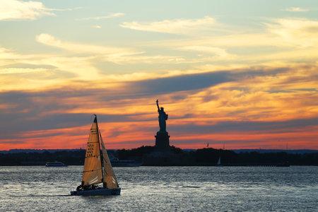 Sunset in New York Harbor