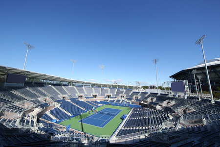 NEW YORK - AUGUST 22, 2016: Newly constructed Grandstand Stadium at the Billie Jean King National Tennis Center ready for US Open tournament in Flushing, NY