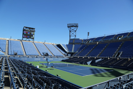 louis armstrong: NEW YORK - AUGUST 22, 2016: Louis Armstrong Stadium at the Billie Jean King National Tennis Center ready for US Open tournament in Flushing, NY Editorial