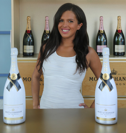 us open: NEW YORK - SEPTEMBER 10, 2016: Moet and Chandon champagne presented at the National Tennis Center during US Open 2016 in New York. Moet and Chandon is the official champagne of the US Open