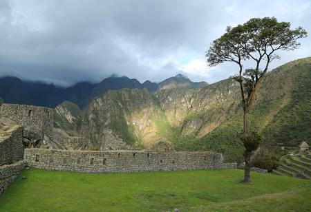 Machu Picchu ruins in Peru. Stock Photo