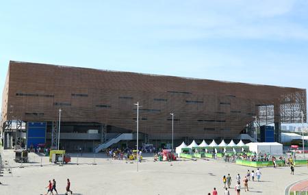 summer olympics: RIO DE JANEIRO, BRAZIL - AUGUST 7, 2016: Future Arena or Arena do Futuro at the Olympic Park in Rio de Janeiro. The venue hosted handball tournament at the 2016 Summer Olympics