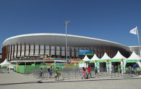 summer olympics: RIO DE JANEIRO, BRAZIL - AUGUST 13, 2016: Carioca Arena 3 at the Olympic Park in Rio de Janeiro. The venue hosted taekwondo and fencing at the 2016 Summer Olympics