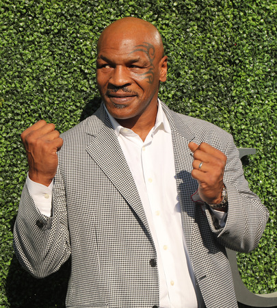 NEW YORK - AUGUST 29, 2016: Former boxing champion Mike Tyson attends US Open 2016 opening ceremony at USTA Billie Jean King National Tennis Center in New York Sajtókép