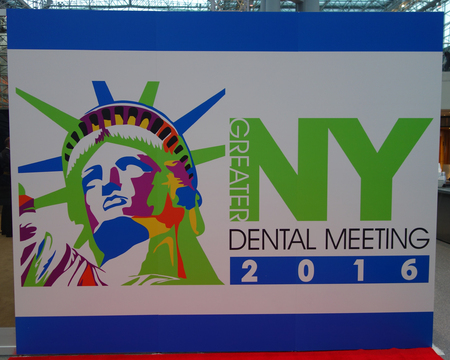 healthcare visitor: NEW YORK - NOVEMBER 29, 2016: The Greater NY Dental Meeting 2016 logo at Javits Center.The Greater New York Dental Meeting is the largest healthcare and dental event in the US