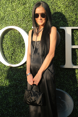 wang: NEW YORK - AUGUST 29, 2016: American fashion designer Vera Wang at the red carpet before US Open 2016 opening night ceremony at USTA Billie Jean King National Tennis Center in New York