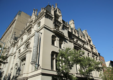 architectural heritage of the world: NEW YORK - JUNE 14, 2016: The Jewish Museum in Manhattan. The Jewish Museum is dedicated to the enjoyment, understanding, and preservation of the artistic and cultural heritage of the Jewish people Editorial