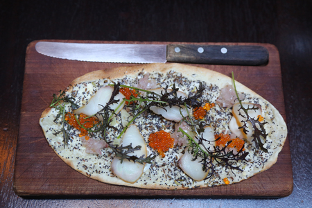 Fancy seafood appetizer served in gourmet restaurant 版權商用圖片