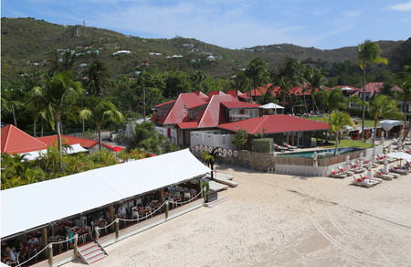 ST BARTS,FRENCH WEST INDIES - JUNE 11, 2015: Eden Rock hotel at St Barts, French West Indies. Eden Rock St Barts is one of the Top 100 hotels in the world.