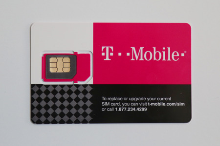 NEW YORK - APRIL 23, 2017: T-Mobile SIM card delivered to customer in New York