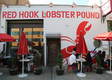 BROOKLYN, NEW YORK - MAY 21, 2017: Famous Red Hook Lobster Pound in Brooklyn, New York.