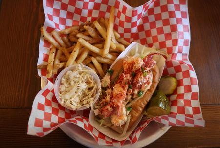 popular: Lobster roll served in Seafood Restaurant