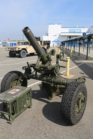 best protection: NEW YORK - MAY 28, 2017: US Marine Corps M120 120mm Mortar presented during Fleet Week 2017 in New York Editorial
