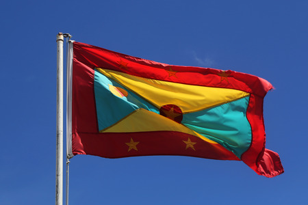 The national flag of Grenada Stok Fotoğraf - 80506068