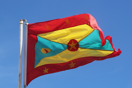 The national flag of Grenada Stok Fotoğraf - 80614957
